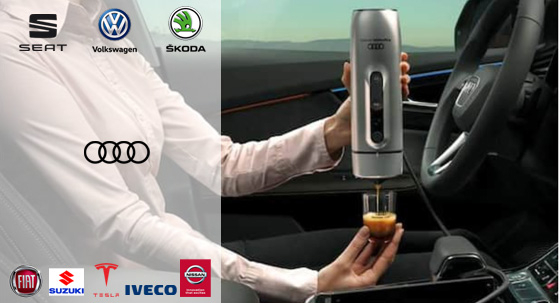 Handpresso and car manufacturers