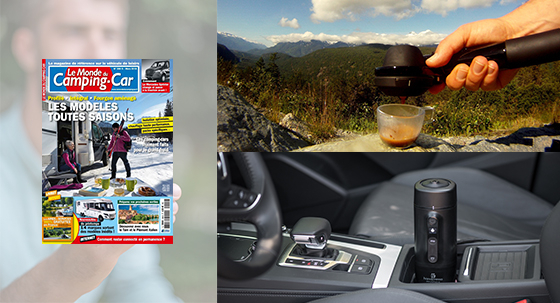 A real espresso in your camper van as at home